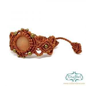 golden-quartz-macrame-bracelet-orange-handmade-hippie