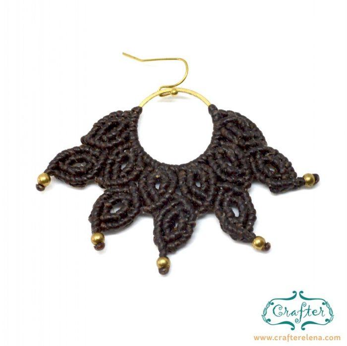 macrame-brown-handmade-fan-earrings-crafterelena-1