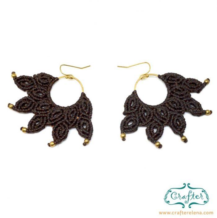 macrame-brown-handmade-fan-earrings-crafterelena-3