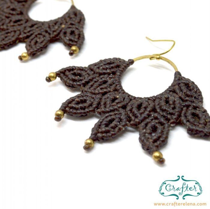 macrame-brown-handmade-fan-earrings-crafterelena-6