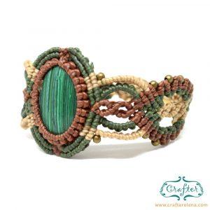 tibetan-green-turquoise-macrame-bracelet-brown-green-handmade-hippie