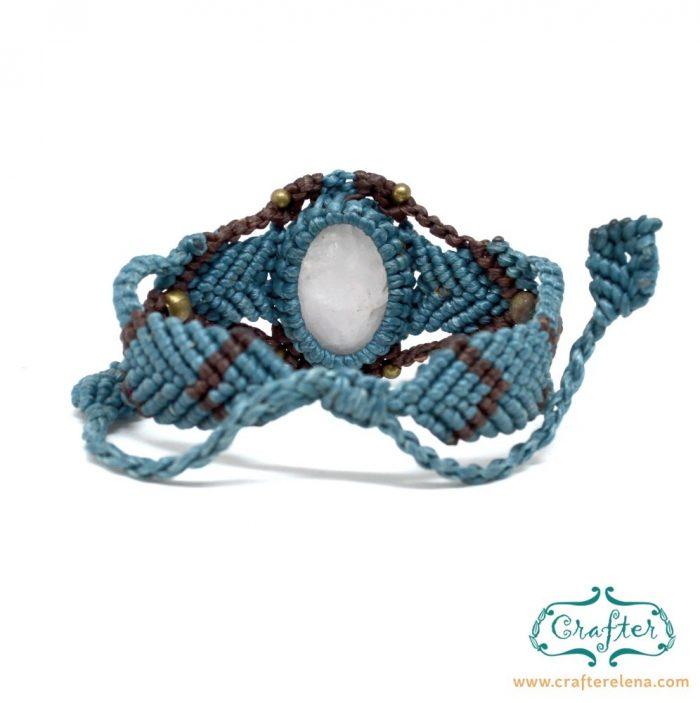 rose-quartz-macrame-bracelet-blue-handmade-hippie