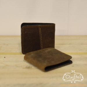 Men's leather wallet, dark leather, brown leather, real leather, hand stitched