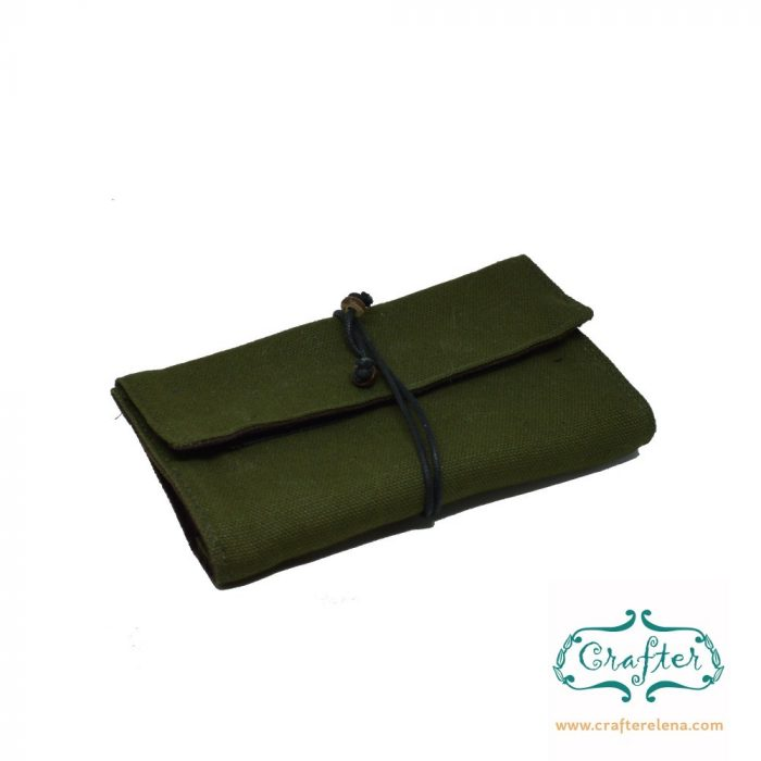 Green, Tobacco pouch, natural fabric, canvas, cigarette pouch, smoking, accessories, crafterelena