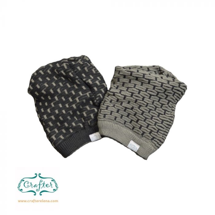 Black and grey beanie bandana