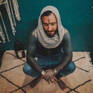 infinity scarf berber rug tuareg