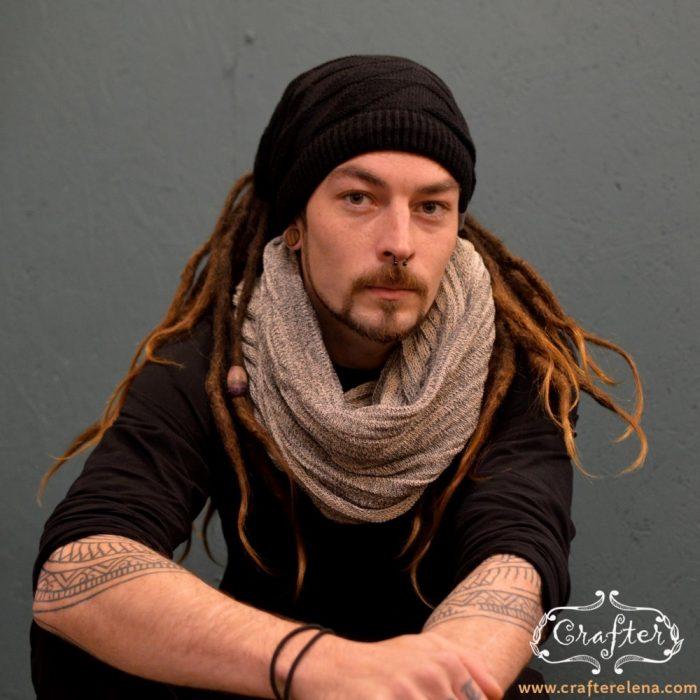 infinity scarf men crafterelena