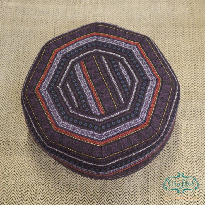 Purple Pattern Pouf