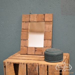 Wooden tiled Mirror
