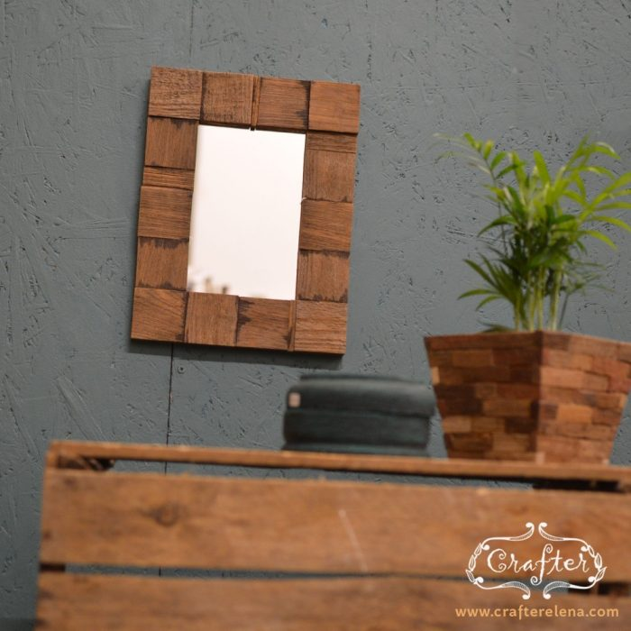 Wooden tiled Mirror