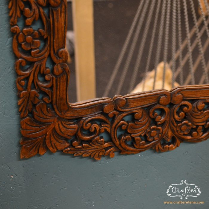 Mirror carving detail