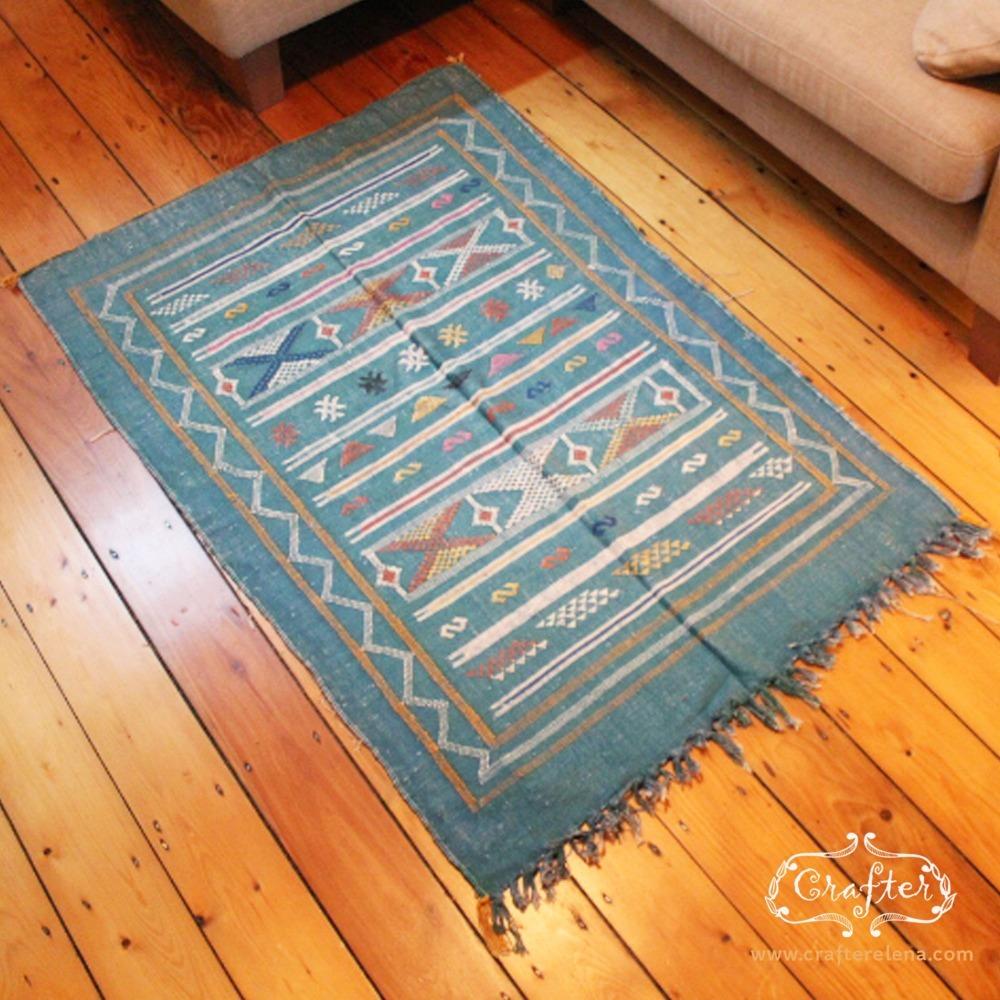 Moroccan Cactus Rug Blue
