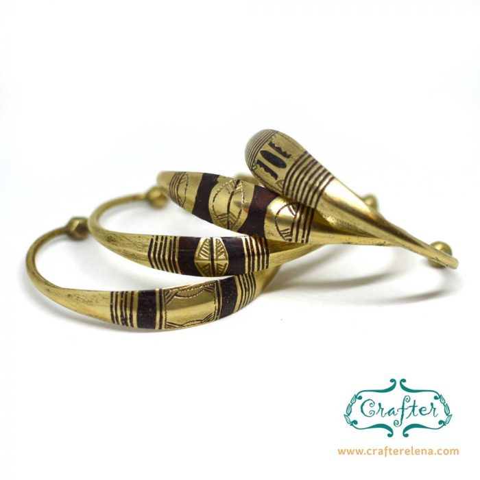 Brass tuareg bracelets multiple