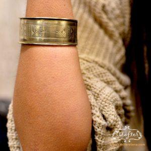 Tuareg hand carved Cuff Bracelet