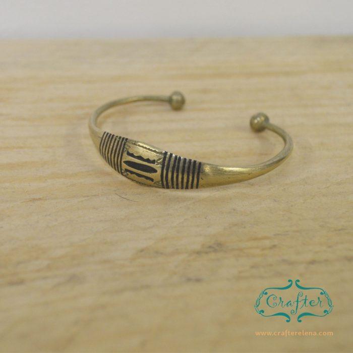Brass tuareg bracelet