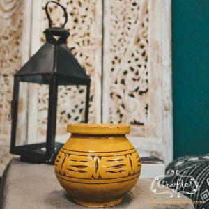 large yellow ceramic Ash treys moroccan lantern lifestyle
