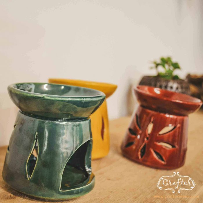 Ceramic Oil Burners_ Green Yellow Red