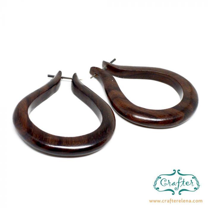 Wooden Drop Tribal Earrings 5