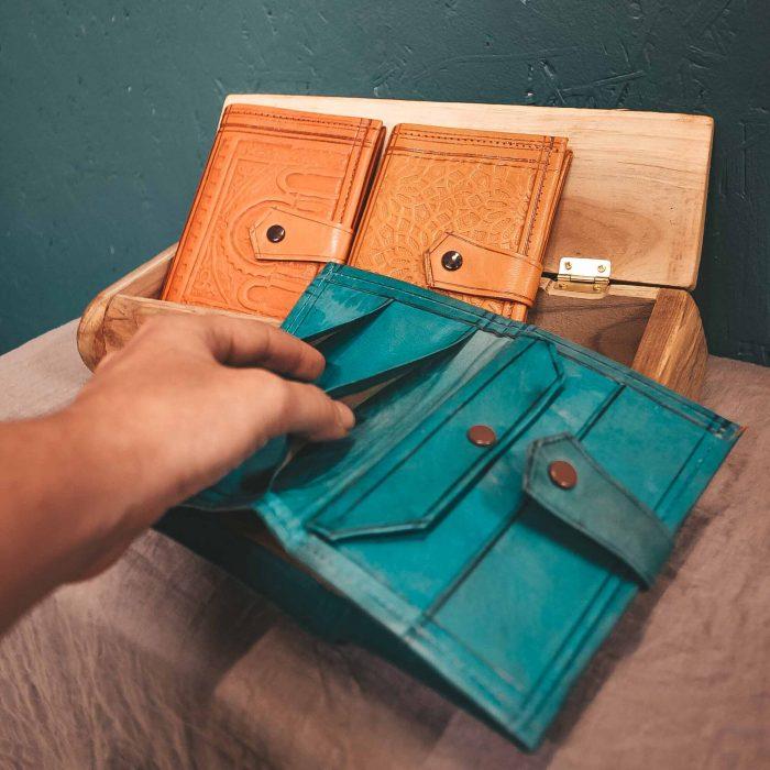 Leather Moroccan Wallet Medium CrafterElena