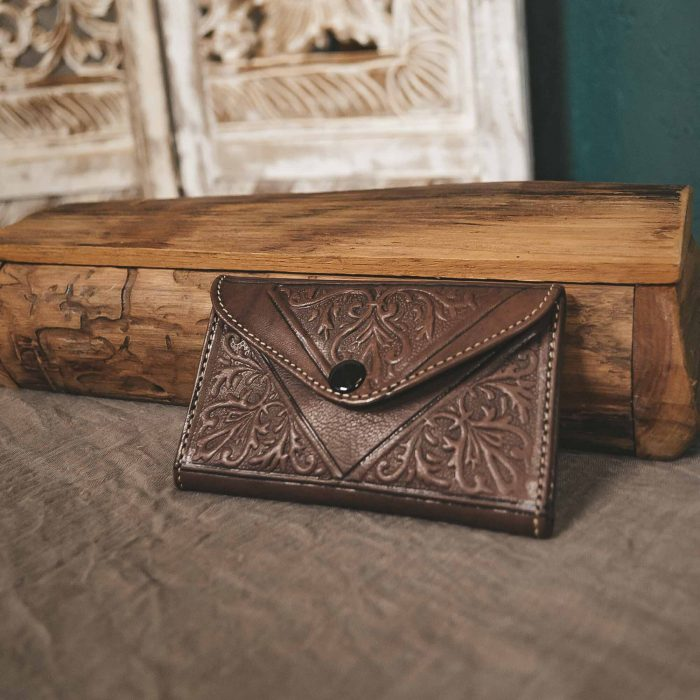 Brown Leather Moroccan Wallet Small CrafterElena