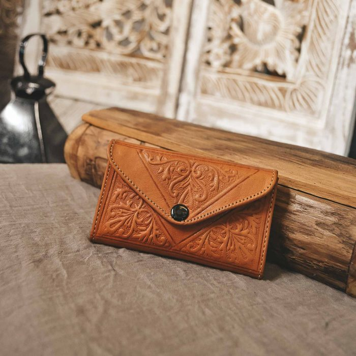 Yellow Leather Moroccan Wallet Small CrafterElena