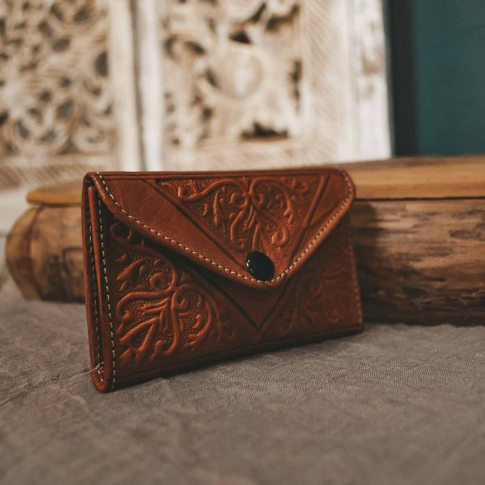 Camel Leather Moroccan Wallet Small CrafterElena