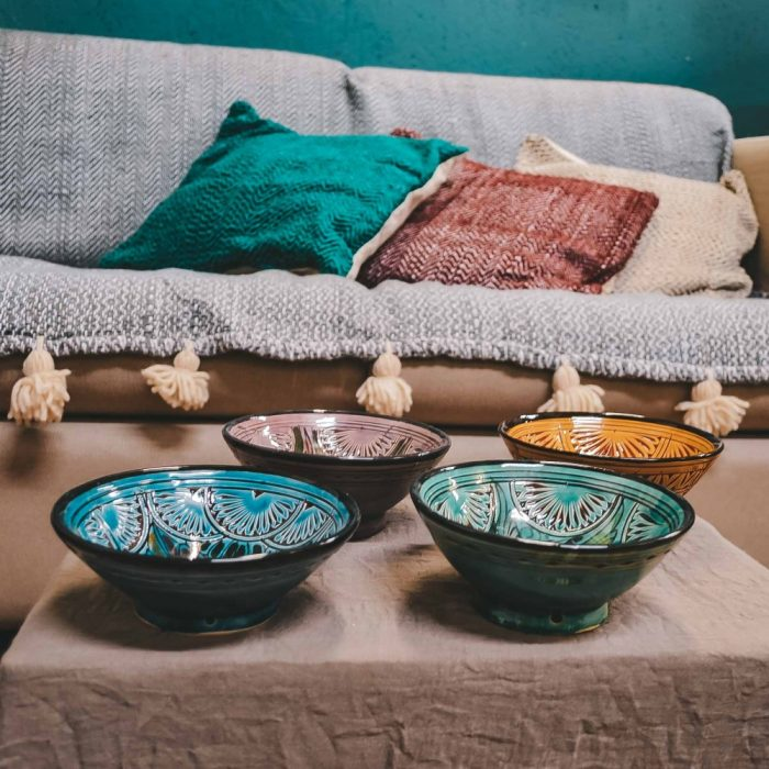 Moroccan Ceramic Bowls Colourful Small CrafterElena