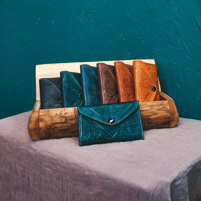 Moroccan Leather Wallet Small CrafterElena