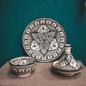 Moroccan Tagine Pot Set Plate Bowl CrafterElena-2