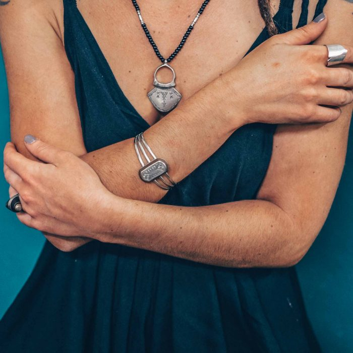 Tuareg Metal and Wood Bracelet
