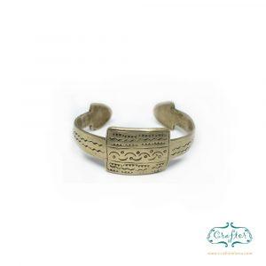 Berber tribal hand carved Cuff Bracelet