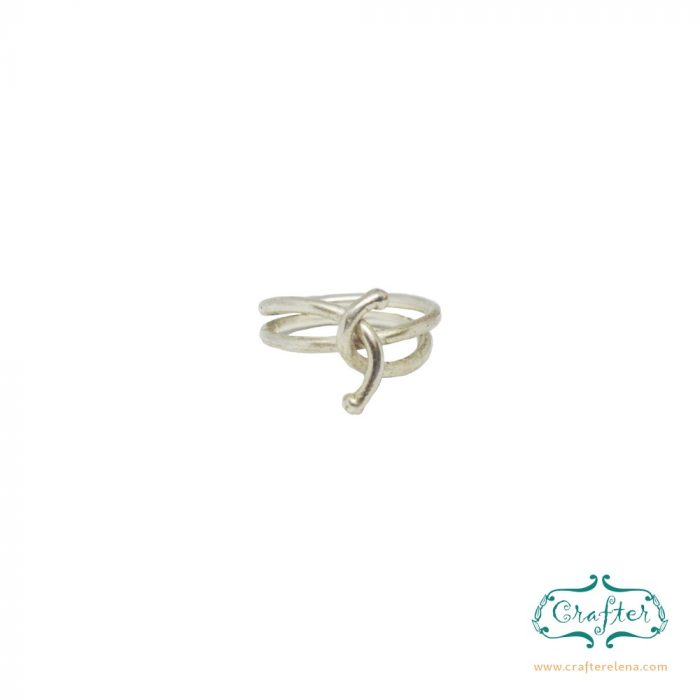 Silver Spiral Layered Stacking Minimalist Rings