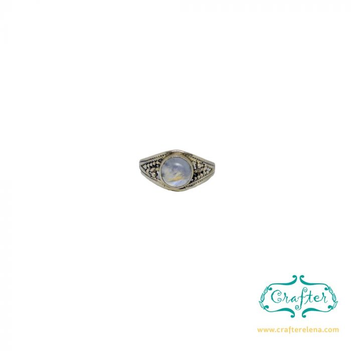 Silver Boho Gemstone Ring