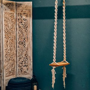 Macrame Wooden Swing Boho