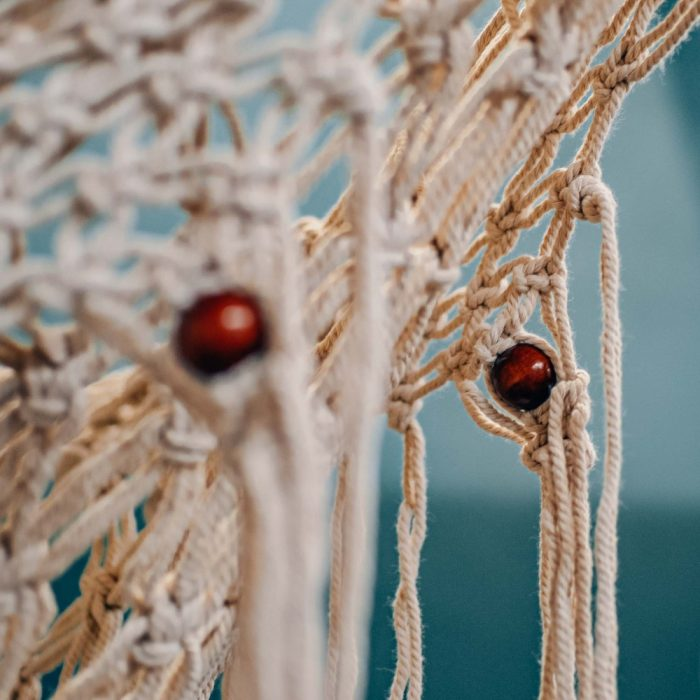 Macrame Net Hammock Swing Chair Detail Beading