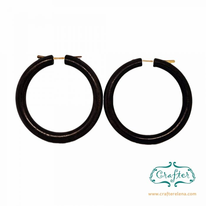 Wooden Tribal Hoop Earrings Eco-Friendly