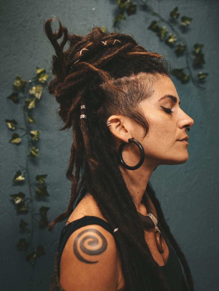 Hoop Wooden Tribal Earrings Bali Dreadlock Girl CrafterElena