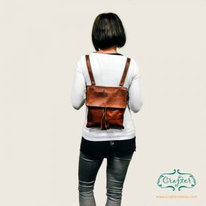 Leather Women's Backpack Crossbody Strap