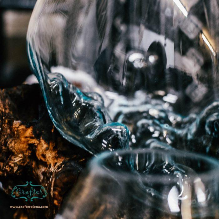 Glass Bowl Terrarium Driftwood Ornament
