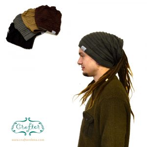 Dread Bandana beanie simple stripe1 colour choice
