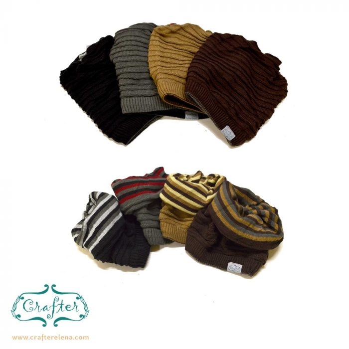 Dread Bandana beanie simple stripe2 colour choice