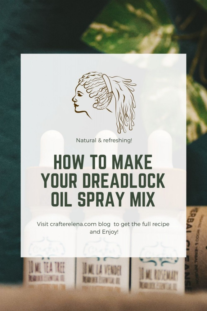 How to make your dreadlock care spray mix
