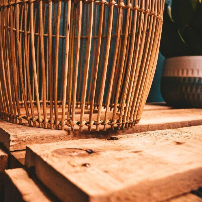 Rattan Lampshade Lantern detail