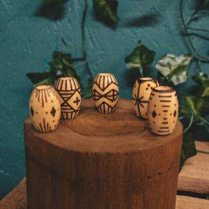 Pyrography Tribal Dreadlock Beads