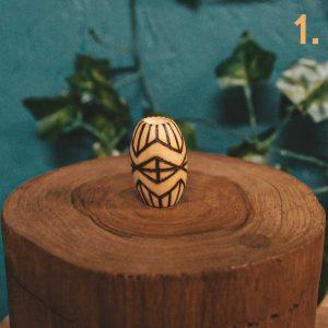 Pyrography Tribal Dreadlock Beads