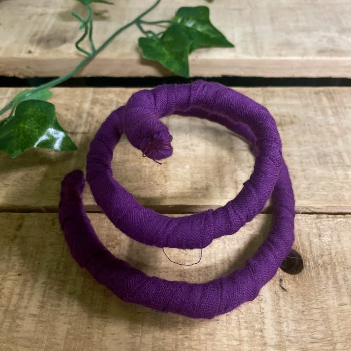 Purple Spiral Locks Dreadlock Wire Hair Tie