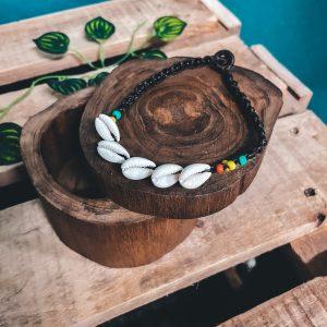 Macrame Anklet Shell Rasta Ankle Bracelet