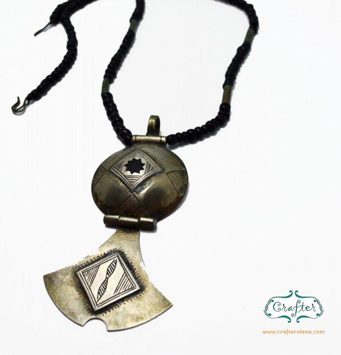 Tuareg Circular Talisman Pendant Necklace
