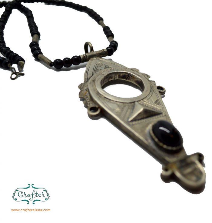 Tuareg Agadez Cross Carnelian Onyx