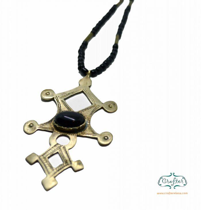 Tuareg Onyx Pendant Necklace